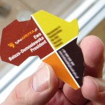 wizytówki w kształcie Afryki